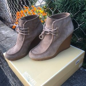 NEVER WORN - Michael Kors Suede Booties